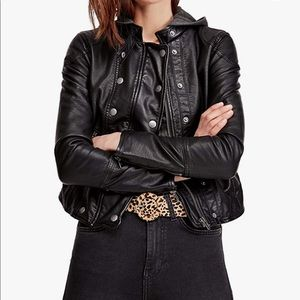 Free People Leather Jacket size large
